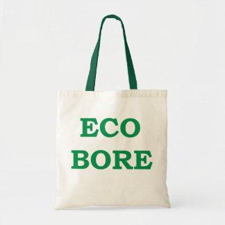 Eco-bore canvas shopping bag