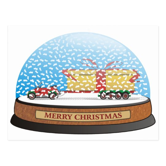 Eco Car Christmas Gift Postcard