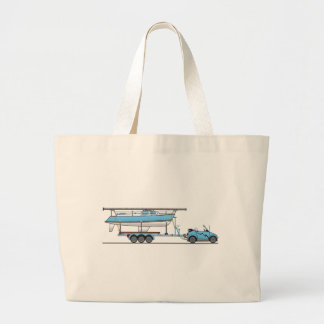 Eco Car Sail Boat Large Tote Bag