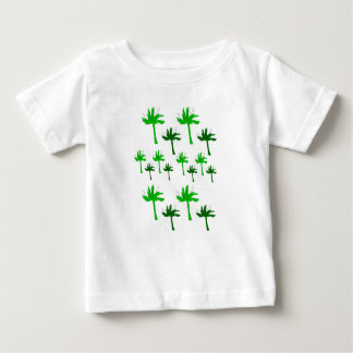 Eco design palms on white baby T-Shirt