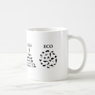 Eco ego white 2 coffee mug