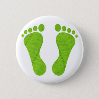 Eco footprints 2 inch round button