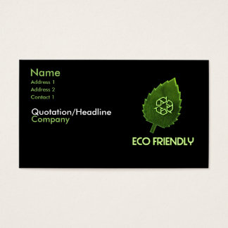 Eco Friendly Business Card