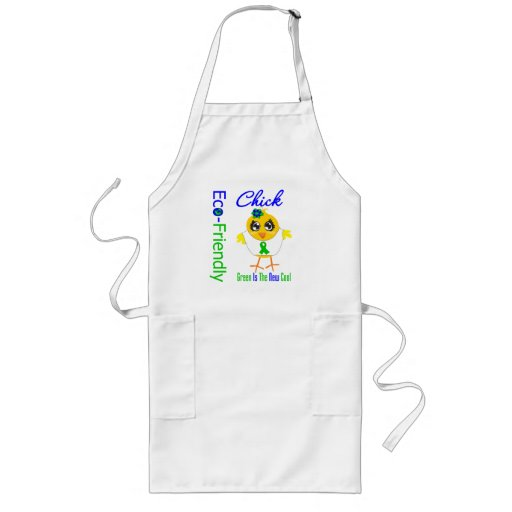 Eco-Friendly Chick Green Is The New Cool v2 Apron