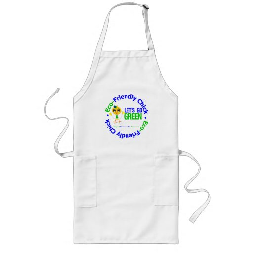 Eco-Friendly Chick Lets Go Green Apron