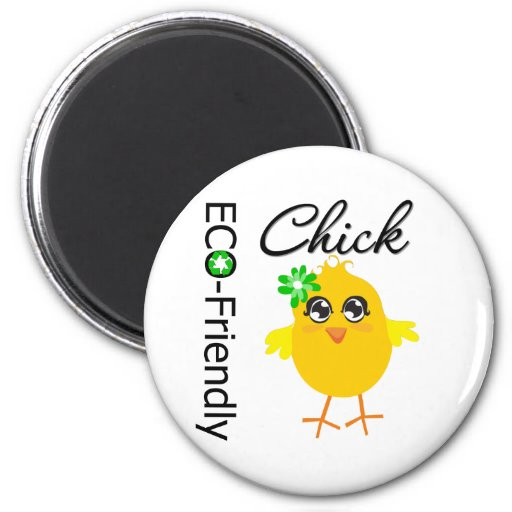Eco-Friendly Chick Fridge Magnets
