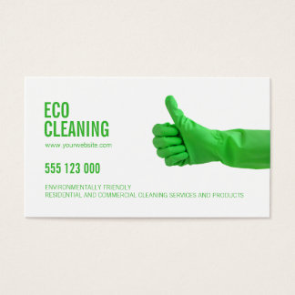 Eco Friendly Cleaning Services business card