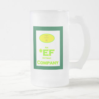 ECO Friendly Company Green Frame Frosted Glass Mug