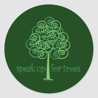 Eco-Friendly, Earth-Friendly, Love Trees Round Sticker