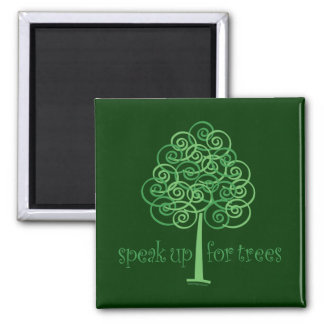 Eco-Friendly, Earth-Friendly, Love Trees Square Magnet
