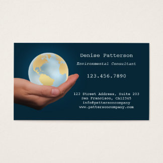 Eco Friendly Globe Environment Business Card