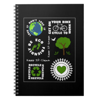 Eco Friendly Go Green Love Planet Earth Themed Notebook