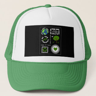Eco Friendly Go Green Love Planet Earth Themed Trucker Hat