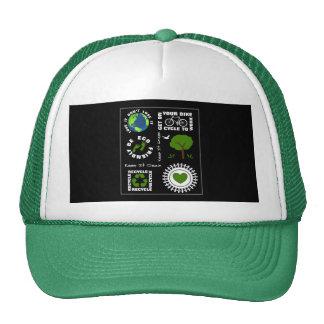 Eco Friendly Go Green Love Planet Earth Themed Trucker Hat