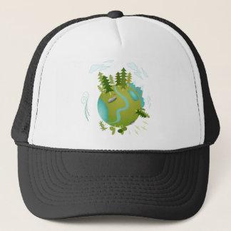Eco Friendly Green Planet Trucker Hat