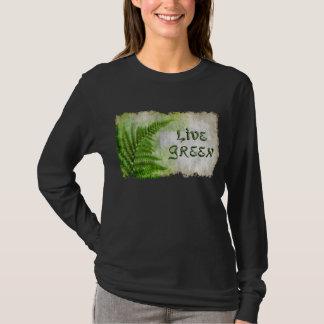 "Eco Friendly ""Live Green"" Art-lovers Shirt"