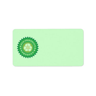 Eco Friendly Product Sticker Address Label