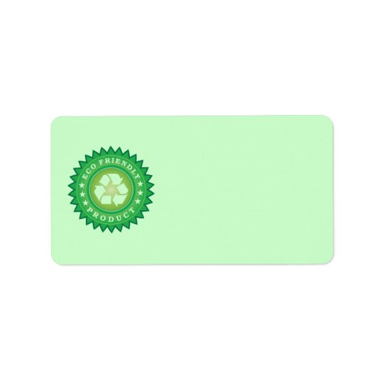 Eco Friendly Product Sticker Address Label