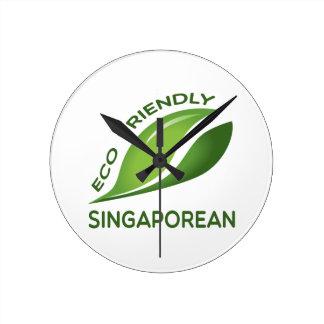 Eco Friendly Singaporean. Clock
