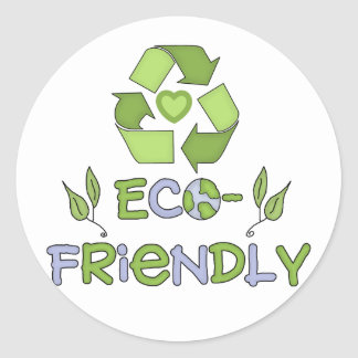 Eco-Friendly T-shirts and Gifts Round Sticker
