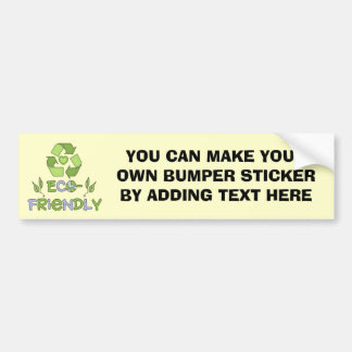Eco-Friendly Tshirts and Gifts Bumper Sticker