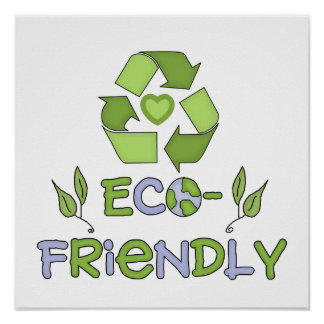 Eco-Friendly Tshirts and Gifts Poster