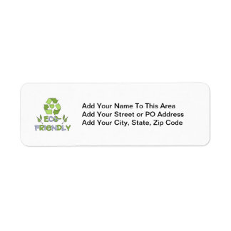 Eco-Friendly Tshirts and Gifts Return Address Label