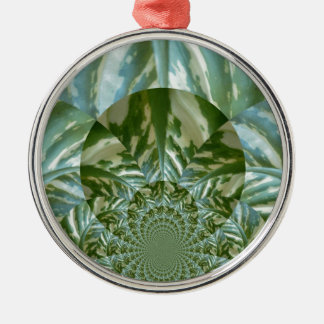 Eco - Going Green Environmental Friendly Colors Round Metal Christmas Ornament