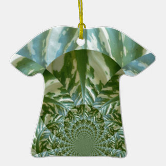 Eco - Going Green Environmental Friendly Colors Ceramic T-Shirt Ornament