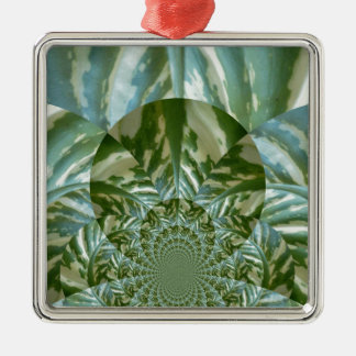 Eco - Going Green Environmental Friendly Colors Silver-Colored Square Ornament