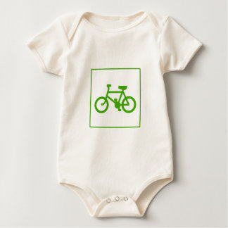 Eco Green Bicycle icon, bike, ecology Baby Bodysuit
