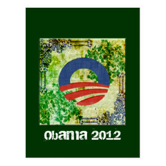 Eco Grunge Obama 2012 Reelection Design Postcard