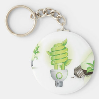 Eco leaf globes key chain