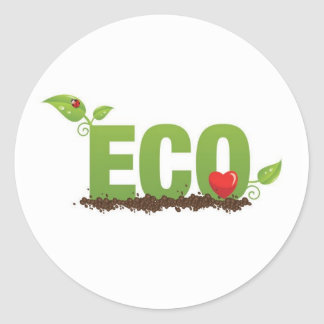 Eco-love Classic Round Sticker