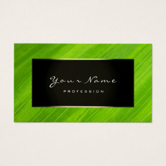 Eco Manager Blogger Champagne Faux Gold Green Business Card