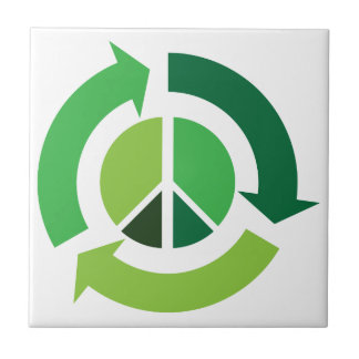 Eco Recycling Peace Symbol - Ecology Tile