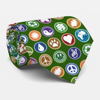 Eco Symbols Tie