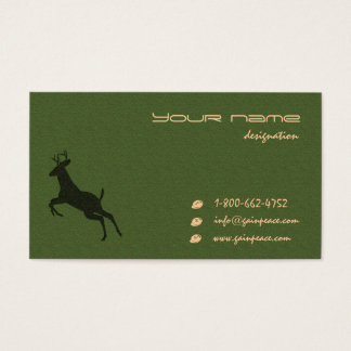 eco themed business card
