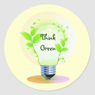 Eco Think Green Classic Round Sticker