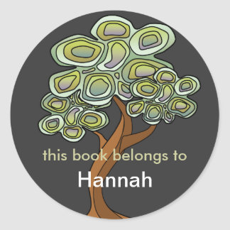 Eco Tree Book Label