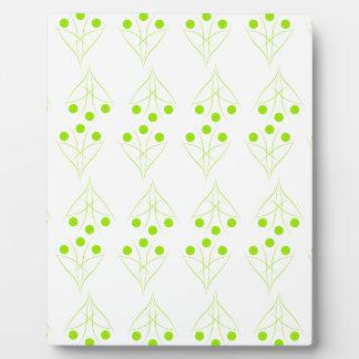 Eco tree plaque