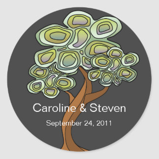 Eco Tree Wedding Sticker