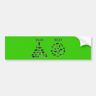 Eco vs Ego Bumper Sticker
