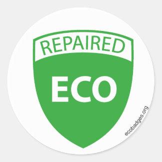 EcoBadge: Repaired2 Classic Round Sticker