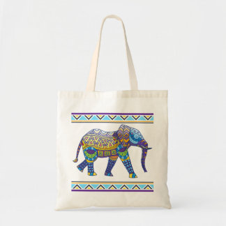 Ecobag Ethnic Elephant Tote Bag