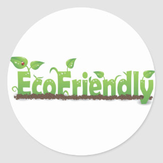 Ecofriendly Classic Round Sticker