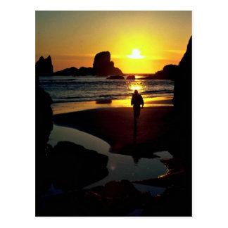 Ecola sunset, Oregon Coast, U.S.A. Postcard