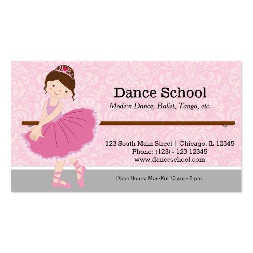 École de danse modèles de cartes de visite