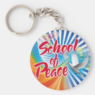 École de paix porte-clé rond