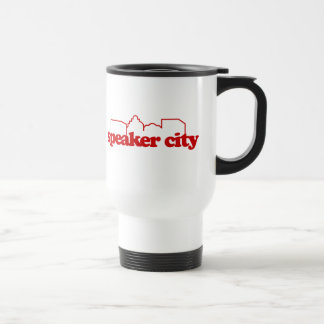 École de ville de haut-parleur vieille mug de voyage